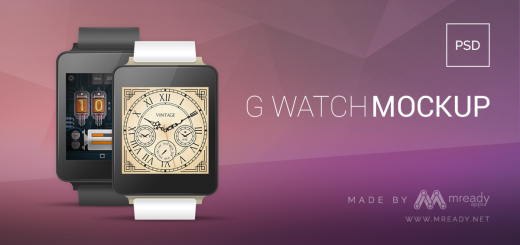 G Watch Free PSD Mockup