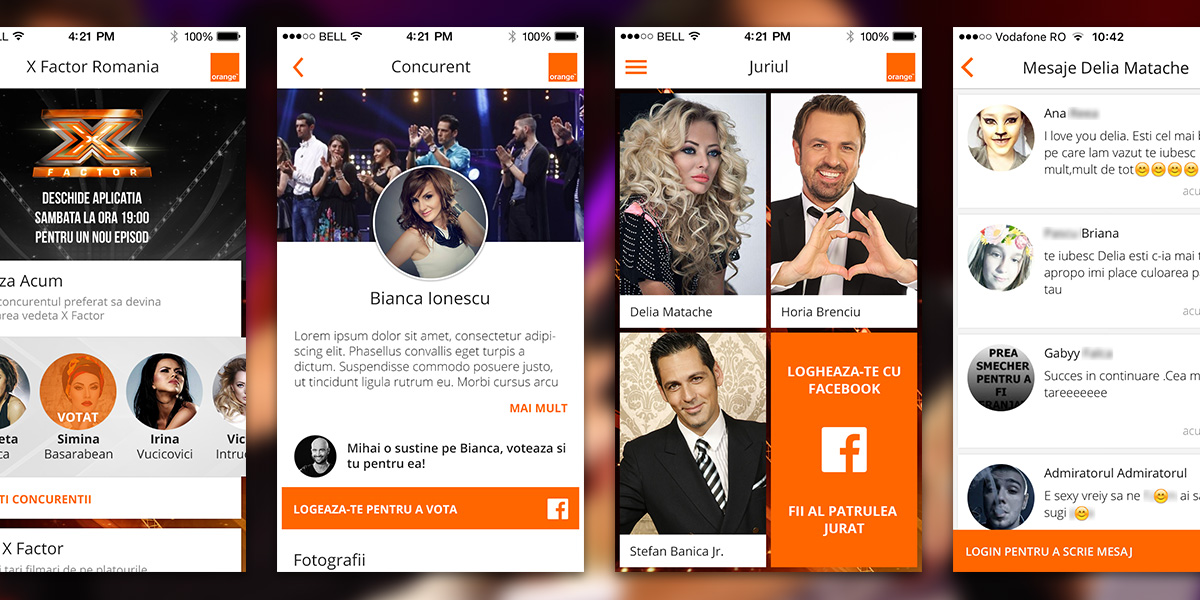 X Factor Romania app features