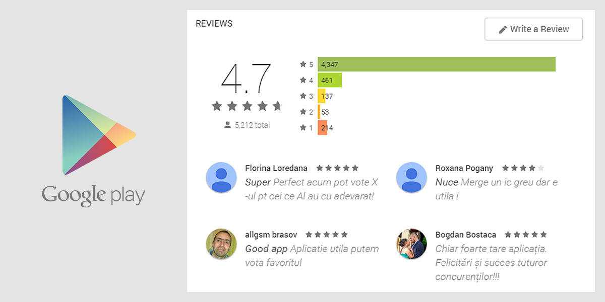 x factor Romania Android app reviews