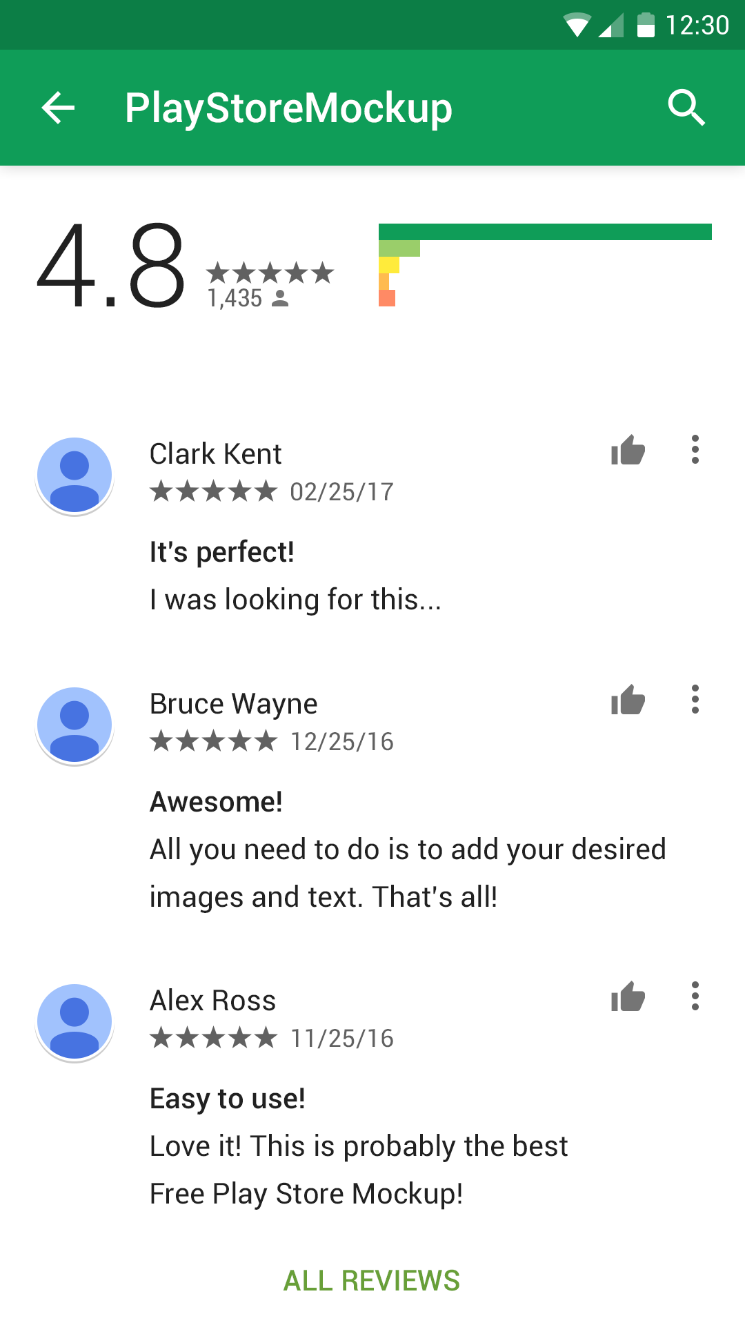 Play Store Mockup Rating