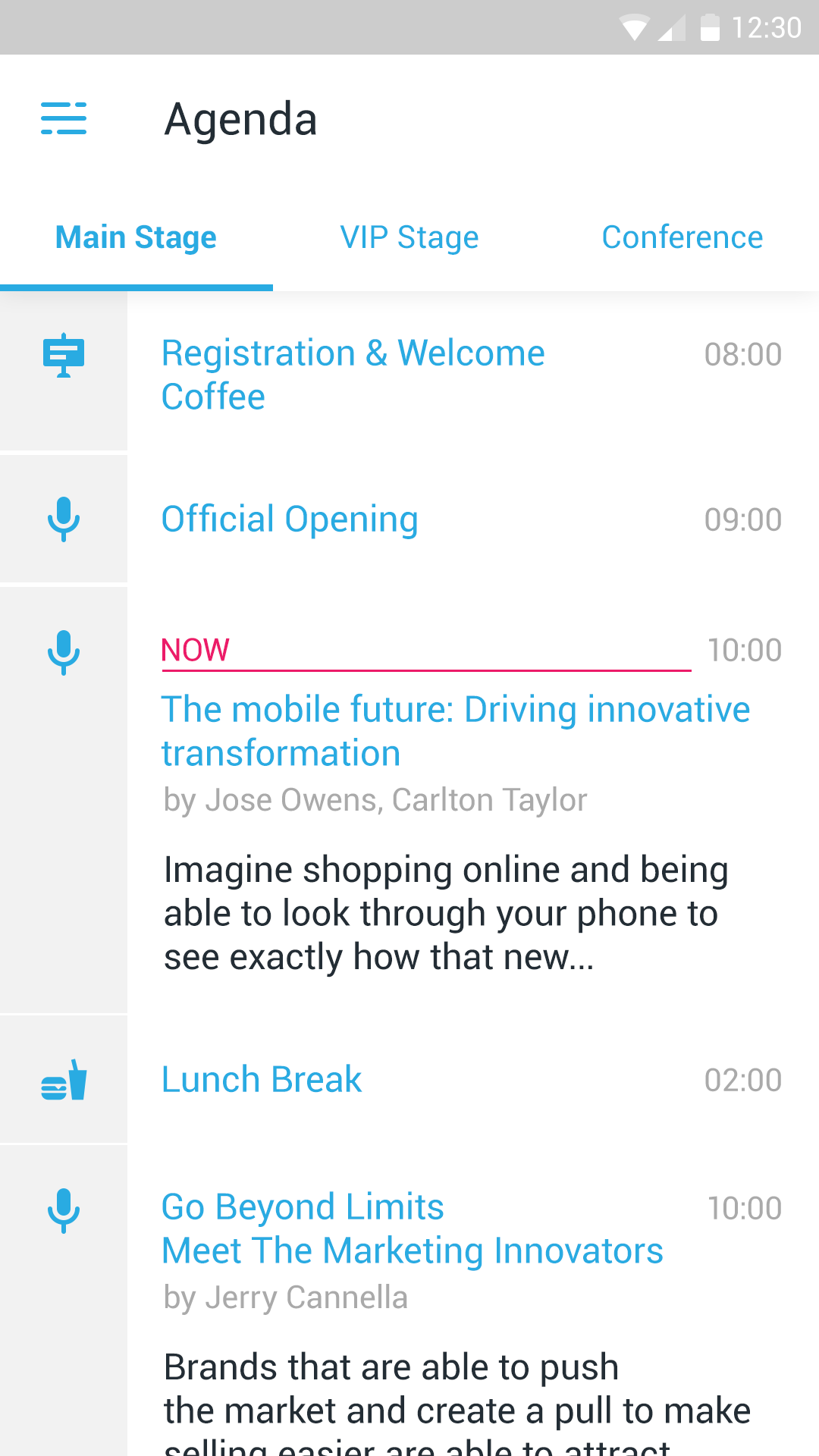 Eventster Agenda - Mobile Event App
